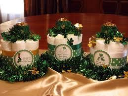 st patrick u0027s day baby shower mini diaper cake centerpieces