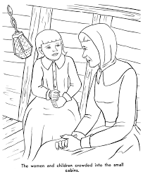 pilgrims thanksgiving coloring page coloring pages