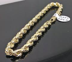 gold bracelet rope images 10k men 39 s yellow gold rope bracelet 5mm 8 inches long mens ladies jpg