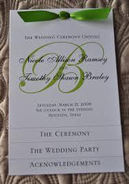 Wedding Programs Samples Sample Wedding Programs Sample Wedding Programs