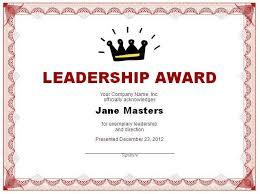 leadership certificate template free layout u0026 format