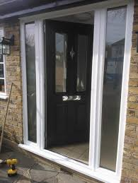 Frame Exterior Door Exterior Design Black Composite Entry Door With White Frame And