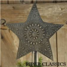 punched tin tree topper small piper classics
