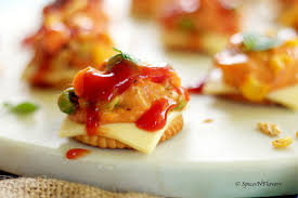 Easy Starters Recipes For Dinner Parties Cheesy Monaco Bites Monaco Biscuit Party Topping Spices N Flavors