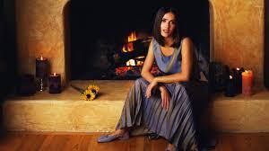 salma hayek in front of fireplace wallpaper celebrity wallpapers