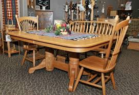 Shaker Dining Room Furniture 5 Piece Oak Shaker Dining Set The Amish Connection Solid Wood