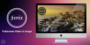 wp themes video background fenix fullscreen video image background free wordpress theme
