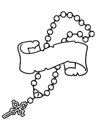 rosary for kids rosary coloring page free printable coloring pages