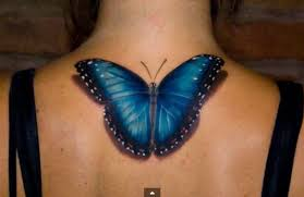 plumeria 3d butterfly