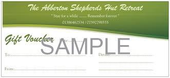 gift voucher samples gift voucher shepherd u0027s hut retreat