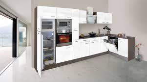 K Henzeile Komplett Respekta Economy L Form Winkel Küche Küchenzeile Eiche York Weiss