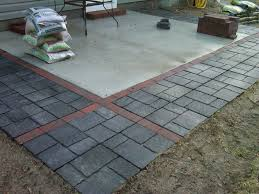 Concrete Patio With Pavers Concrete Patio Pavers New With Ideas Home Depot Paver Base