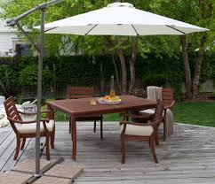 Solar Patio Table Lights by Table 10 U0027 Square Cantilever Umbrella Umbrella For Patio Table