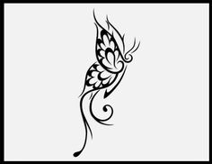 small tribal butterfly design
