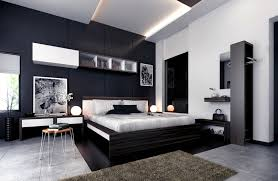 modern master bedroom decorating ideas with black furniture and