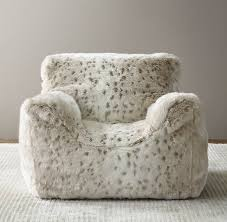 faux fur bean bag chair snow leopard