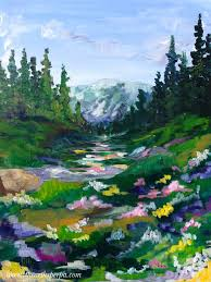 relaxing painting videos mountain meadow for the full youtube how to paint landscapes in