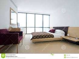 King Size Beds Modern Double Bedroom With King Size Bed Royalty Free Stock Image