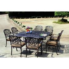 Aluminum Outdoor Patio Furniture by Darlee Elisabeth 9 Piece Cast Aluminum Patio Dining Set Ultimate