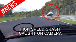 terrifying 100mph crash sees car flip seven times on the