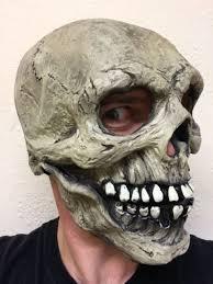 Skeleton Mask White Rubber Skull Mask Day Of The Dead Skeleton Bond Spectre Los