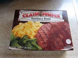 frozen friday claim jumper salisbury steak dinner brand