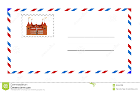 white envelope with postage stamp vector stock vector image