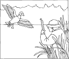 excellent printable hunting coloring pages with hunting coloring