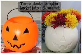 plastic pumpkins spray painted plastic pumpkin
