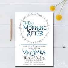 wording for day after wedding brunch invitation the morning after wedding brunch invitation the doesnt stop