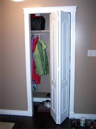 Bifold Closet Doors Lowes Folding Closet Door Finished Installation Of Closet Door Custom