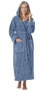 Full Length Bathrobe Arus Women U0027s Organic Cotton Hooded Full Length Turkish Bathrobe At