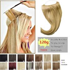 secret hair extensions 120g thick human remy secret invisible wire secret halo hair