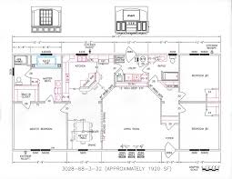 3 Bedroom Plan 3 Bedroom Floor Plan F 3028 Hawks Homes Manufactured U0026 Modular
