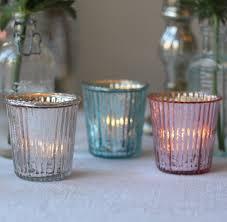 ribbed mercury glass tea light holder blush pink u2013 the wedding of