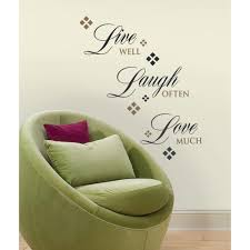 live laugh love home decor roommates live love laugh peel and stick 22 piece wall decals