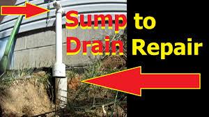 sump pump discharge to drain repair downspout drain diy