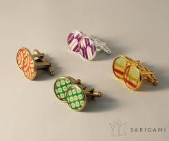 guirlande lumineuse papier japonais boutons de manchette en papier japonais sarigami sarigami