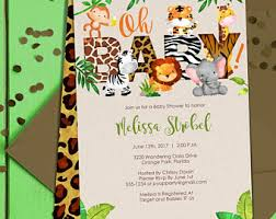 themed baby shower jungle baby shower etsy
