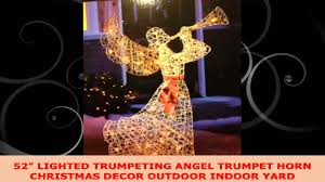 52 lighted trumpeting angel trumpet horn christmas decor outdoor
