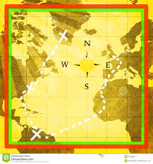 World Treasure Map by Ancient Treasure Map Stock Illustration Image 40808867
