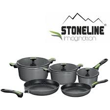 batterie de cuisine stoneline stoneline set batterie de 8 pieces en imagination vert et