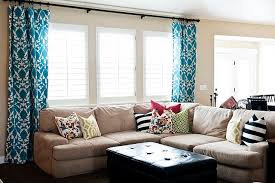 Images Curtains Living Room Inspiration Window Treatments Open Up The Room Fabric Silhouette Turquoise