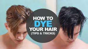 how to dye men u0027s hair at home diy men u0027s hairstyle tutorial