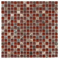 Red Tile Backsplash - perfect kitchen backsplash red tile silver metallic glass mosaic