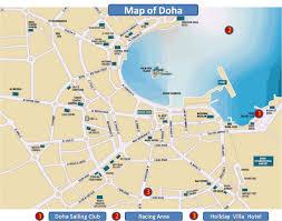 doha qatar map doha tourist map