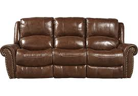 Reclining Sofas Leather Abruzzo Brown Leather Reclining Sofa Leather Sofas Brown