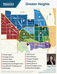 Map Houston Guide To Greater Heights Houston Map By Paige Martin Har Com