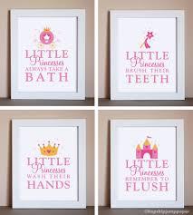 little princess bathroom art four 5x7 prints unframed 52 00