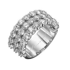 anniversary wedding band the 3 row white gold anniversary band by memoire king